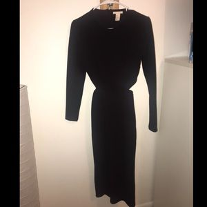 H&M Black Midi dress with Open Back